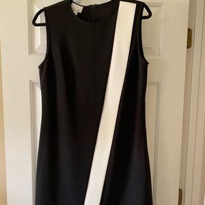 Donna Morgan ladies black dress with white accent!